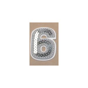 Sequin Felt Number Six 6