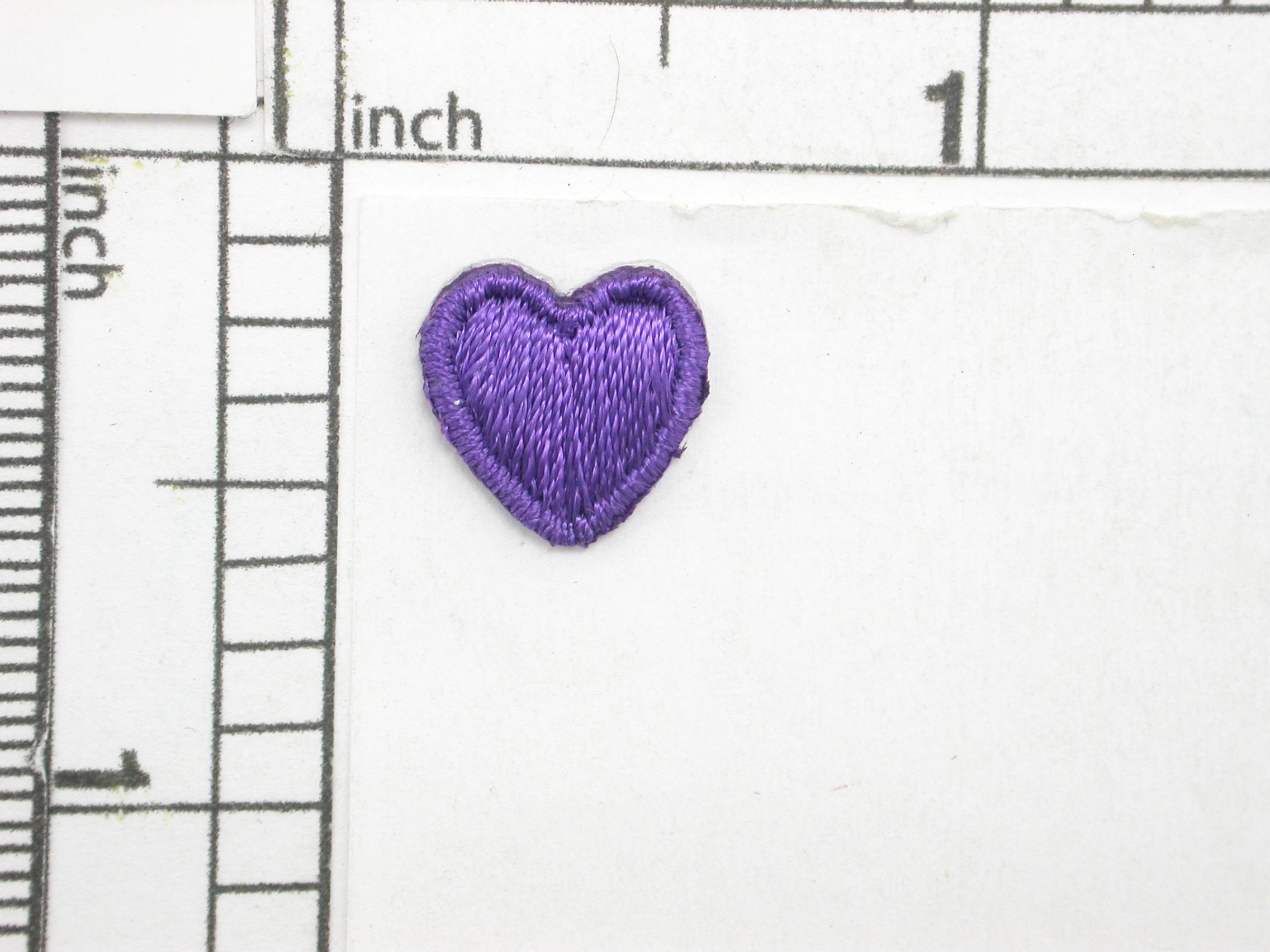 "Heart mini 1/2"" 13mm  - 10 Pack"