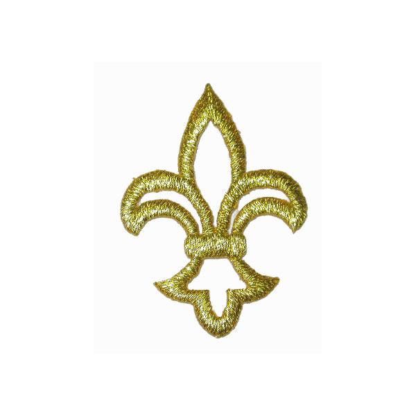 """Fleur De Lis 1 3/4"""" high Hollow Carved GOLD"""