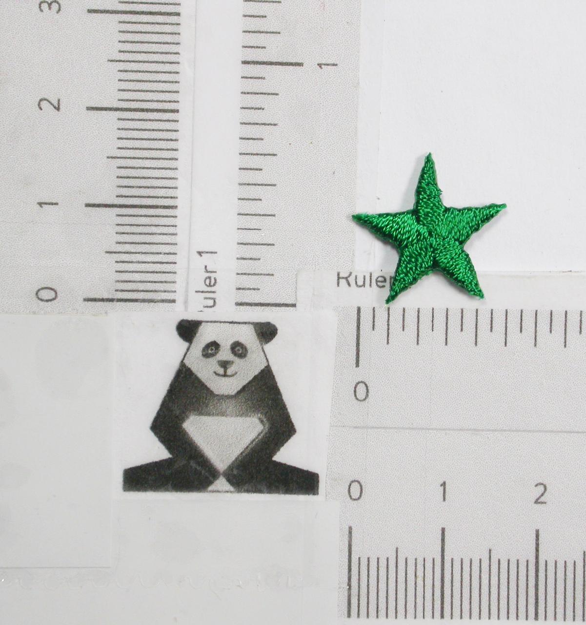 """Star 5/8"""" (15.87mm) GREEN"""
