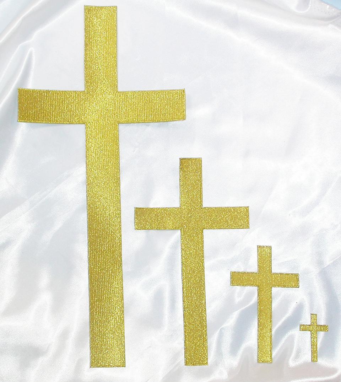 "Plain Cross 16"" Tall Metallic Gold"