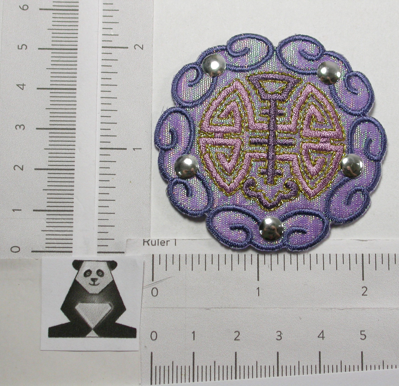 Opalescent Decorative Patch Purple