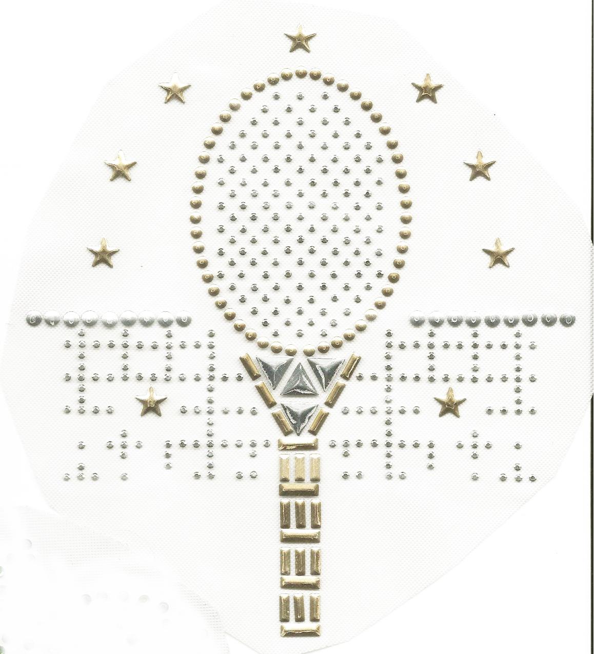 Rhinestud Applique - Tennis Racket