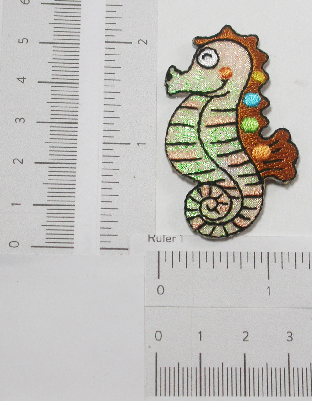 Seahorse Patch Iron On Sparkle Embroidered Applique