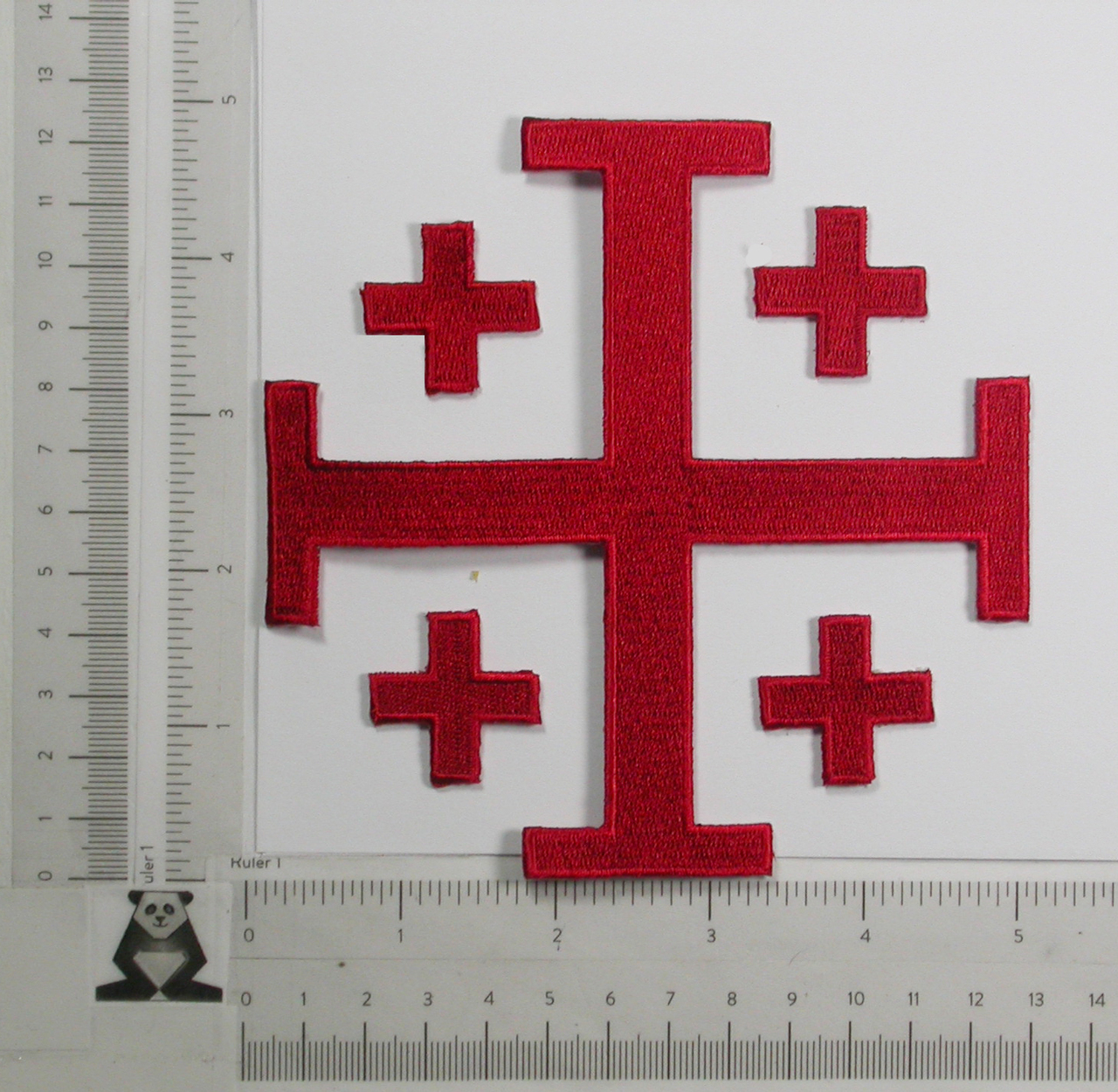 "Jerusalem 5 Part Cross 5""  Red"