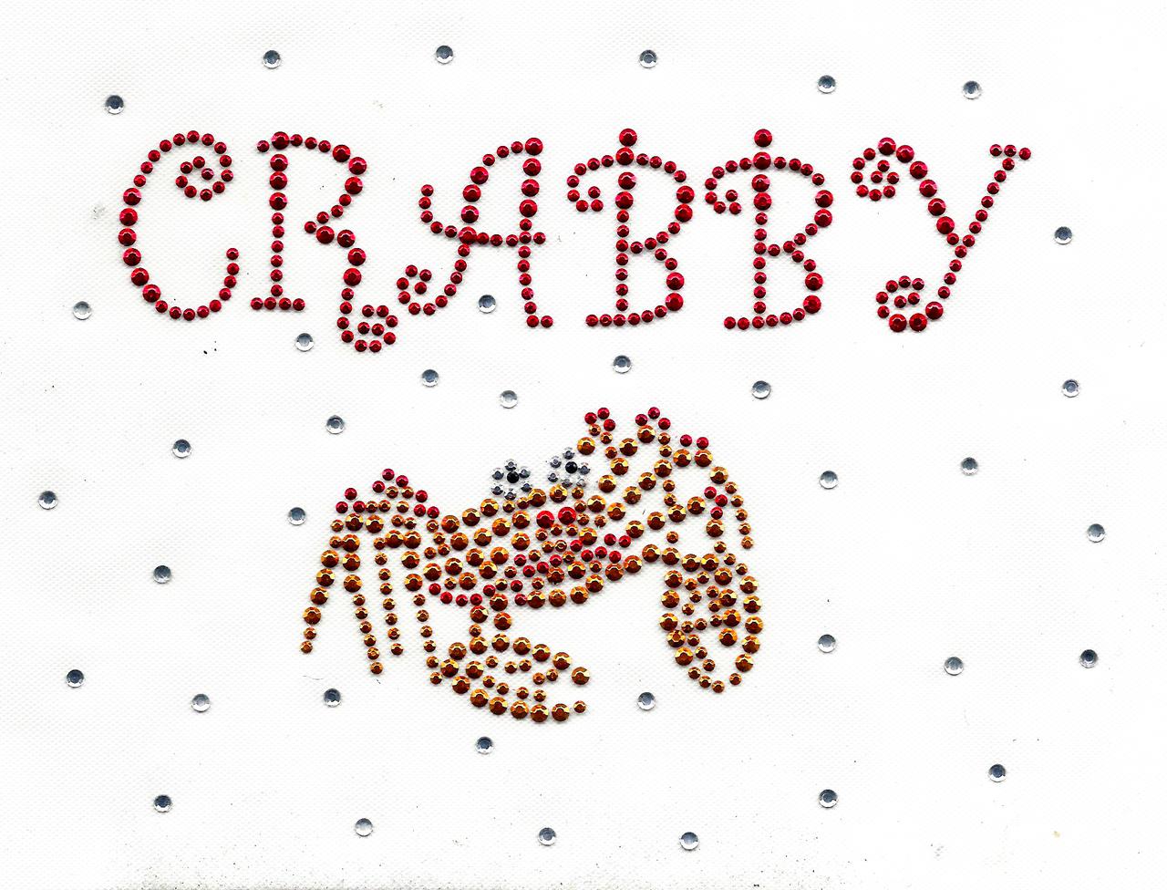 "Rhinestud Applique - ""Crabby"""