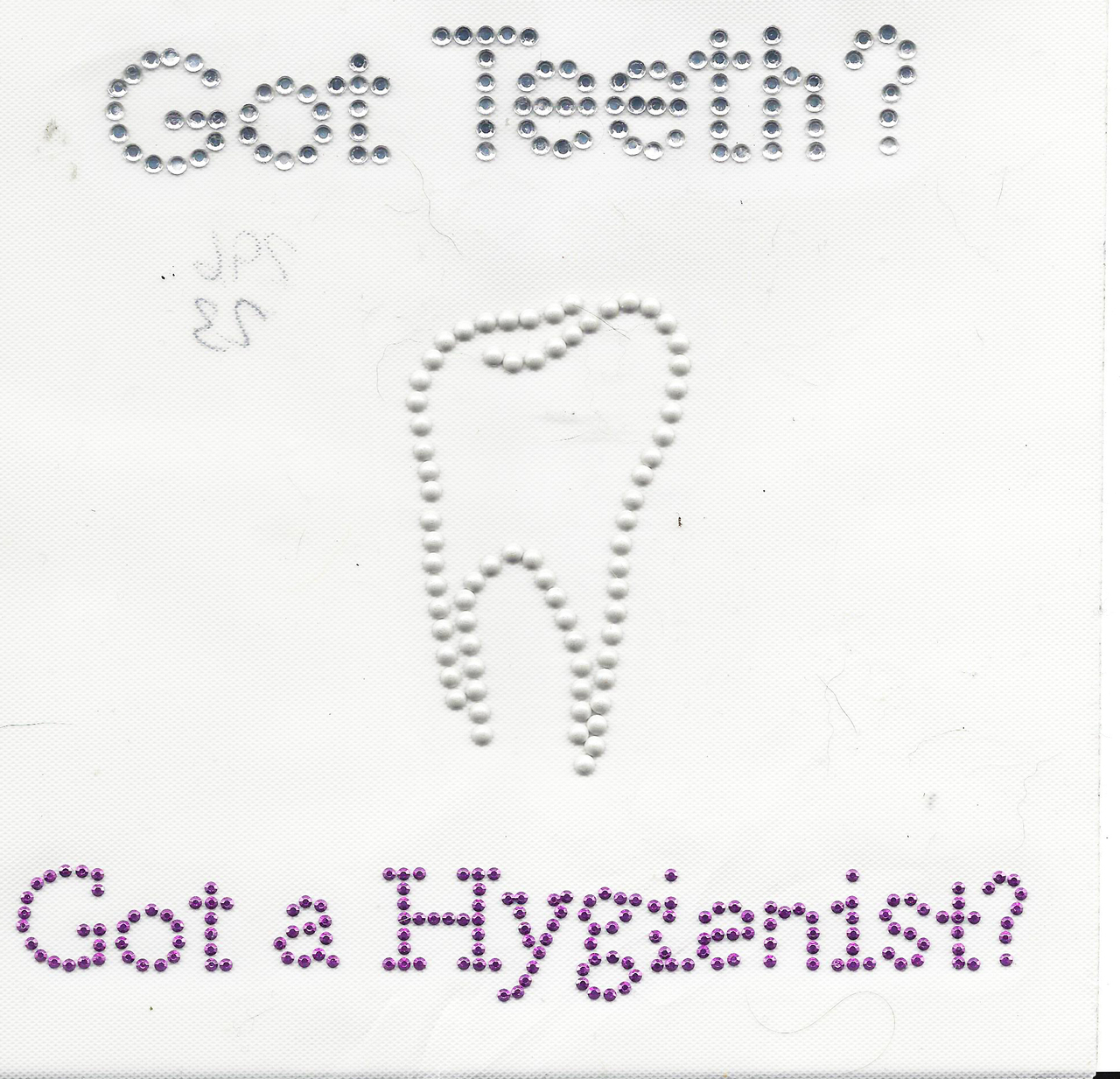 """Rhinestud Applique - """"Got Teeth?"""""""