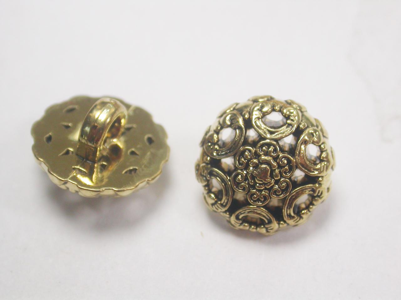 "Button 1/2"" (13mm) Fancy Domed  - Per Piece"
