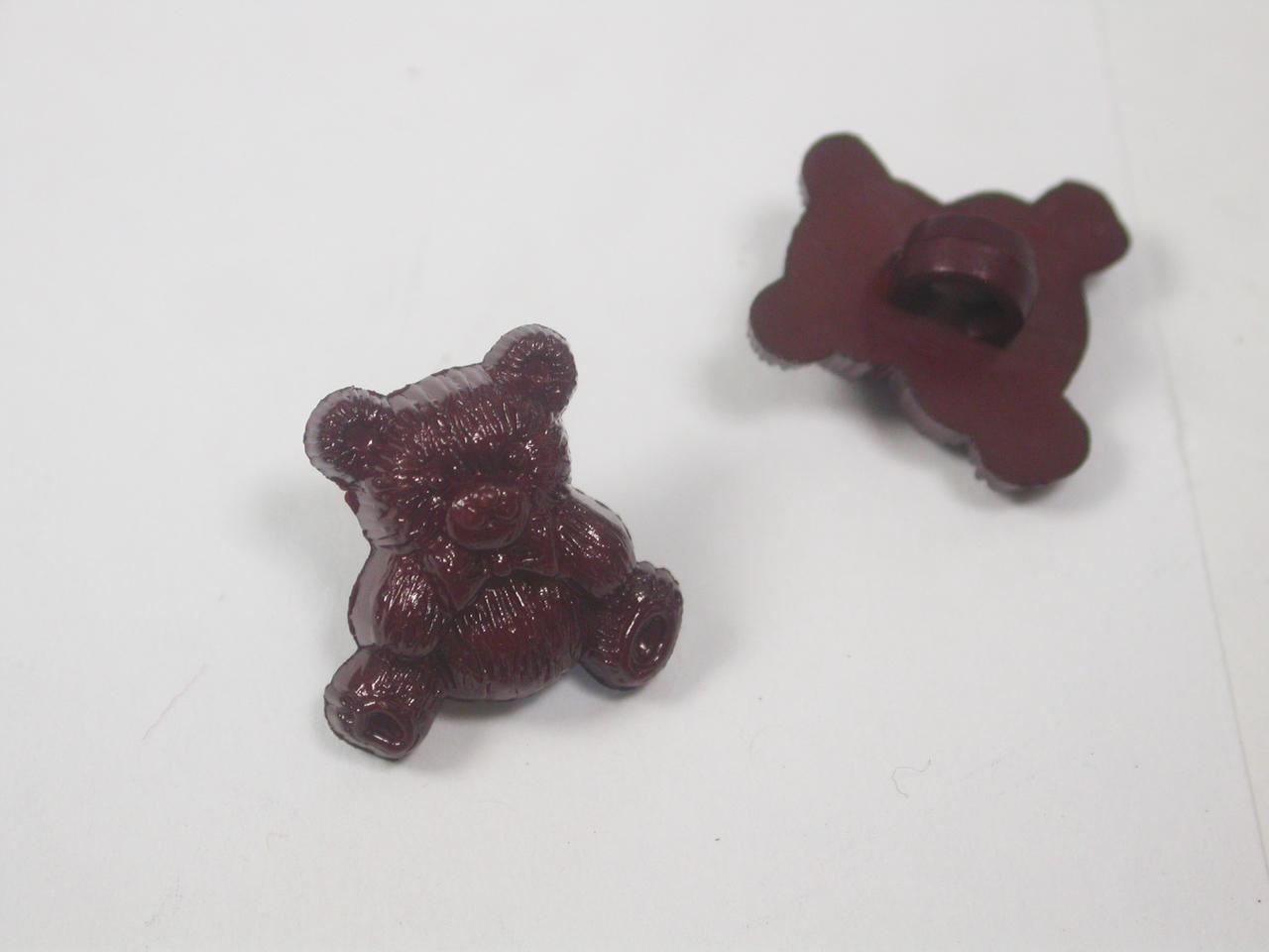 "Button 5/8"" (15.8mm) Teddy Bear Brown - Per Piece"