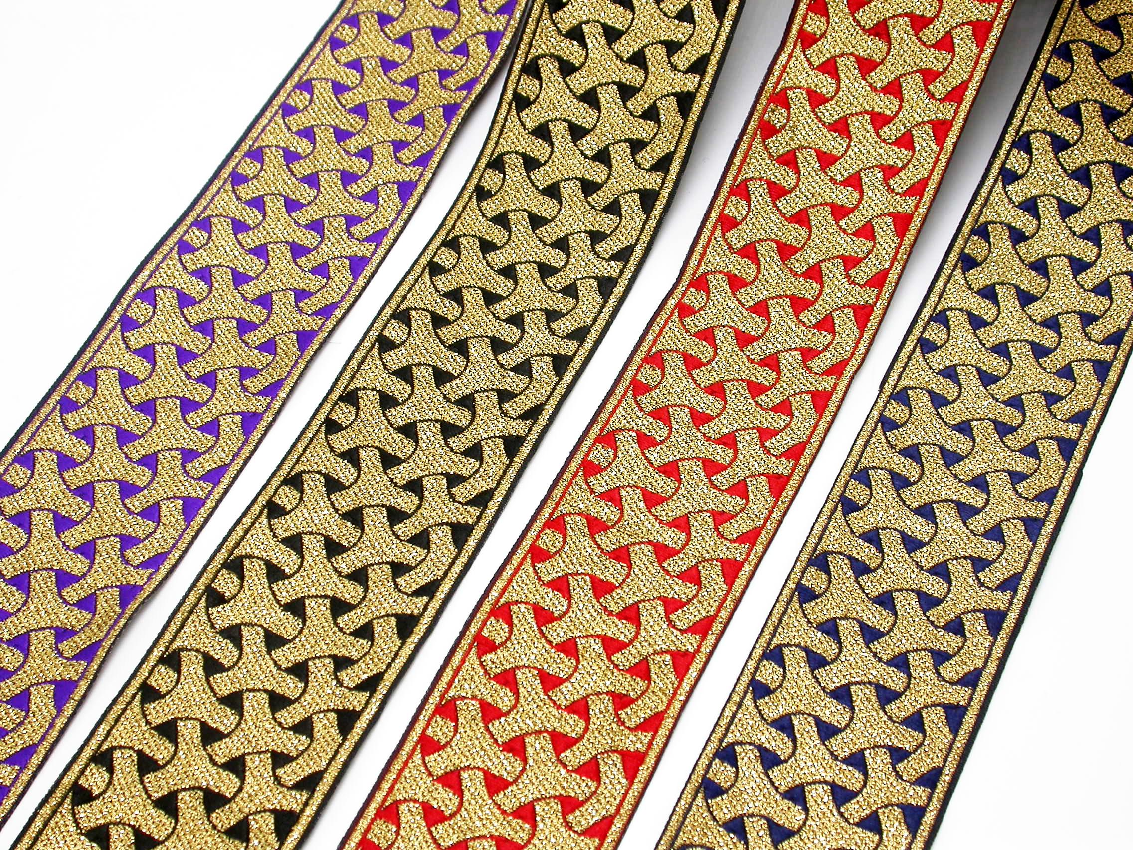 "2"" Wishbone Jacquard Border Woven Ribbon (50mm"