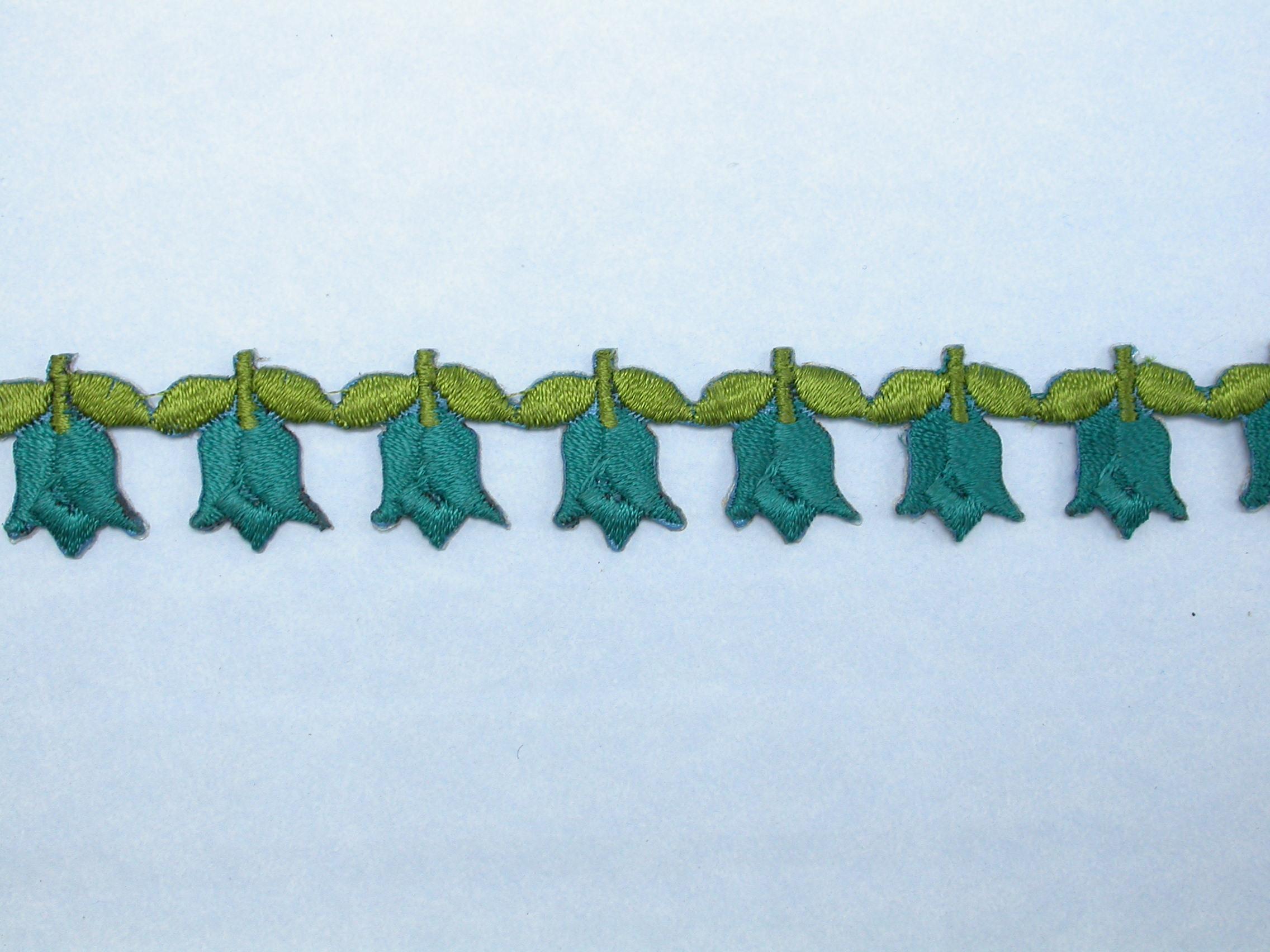 "Iron On Border Tulips 3/4"" (20mm)  wide Priced Per Yard  Iron On"