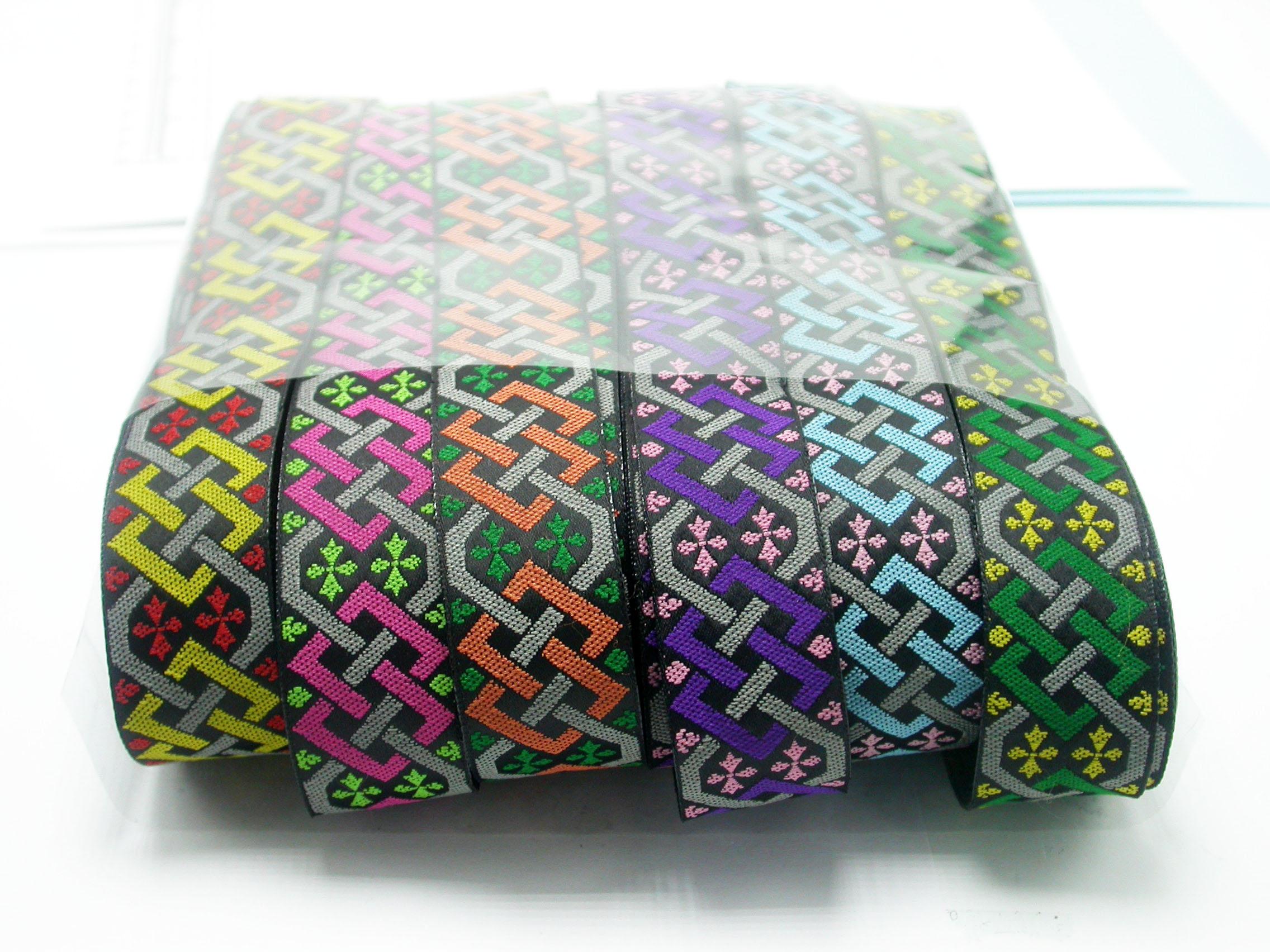 """Jacquard Ribbon 1"""" (25mm) Fortius 9 meters x all 6 colors 54 meters"""