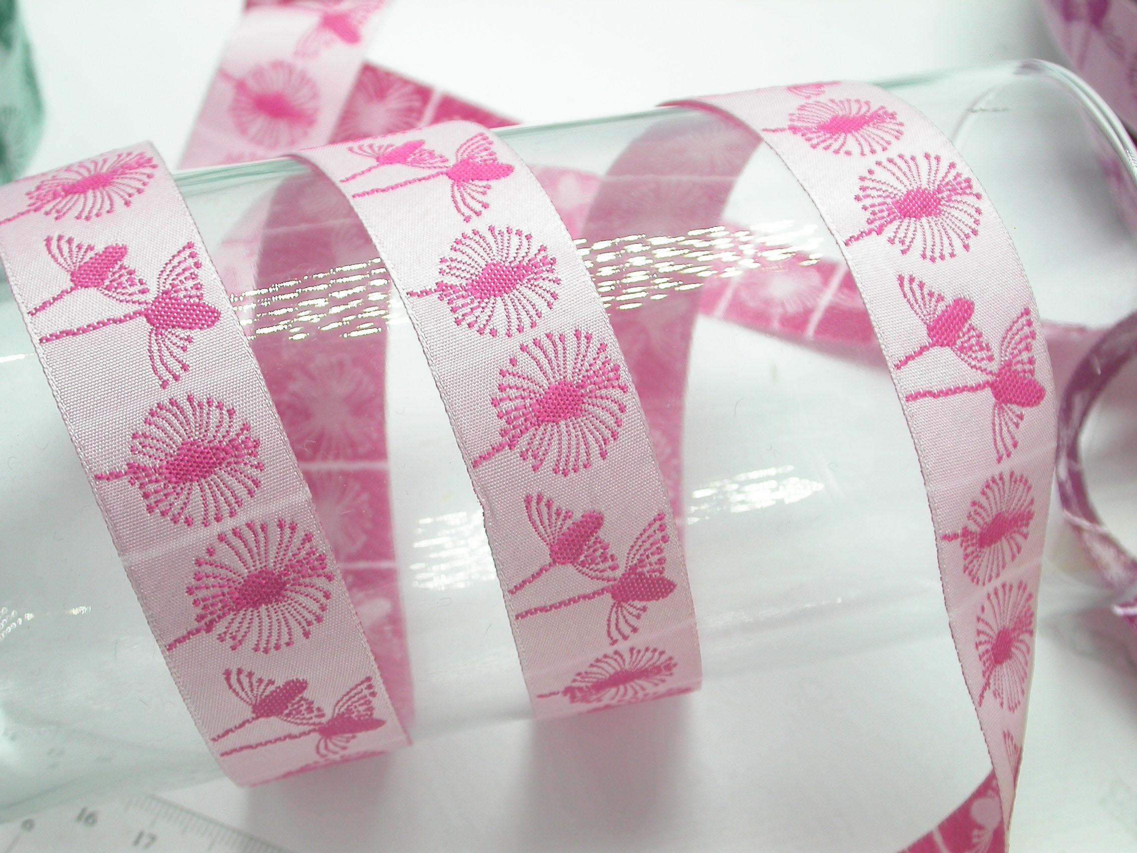 """Jacquard Ribbon 1"""" (25mm) Dandelion Clocks 9 meters"""