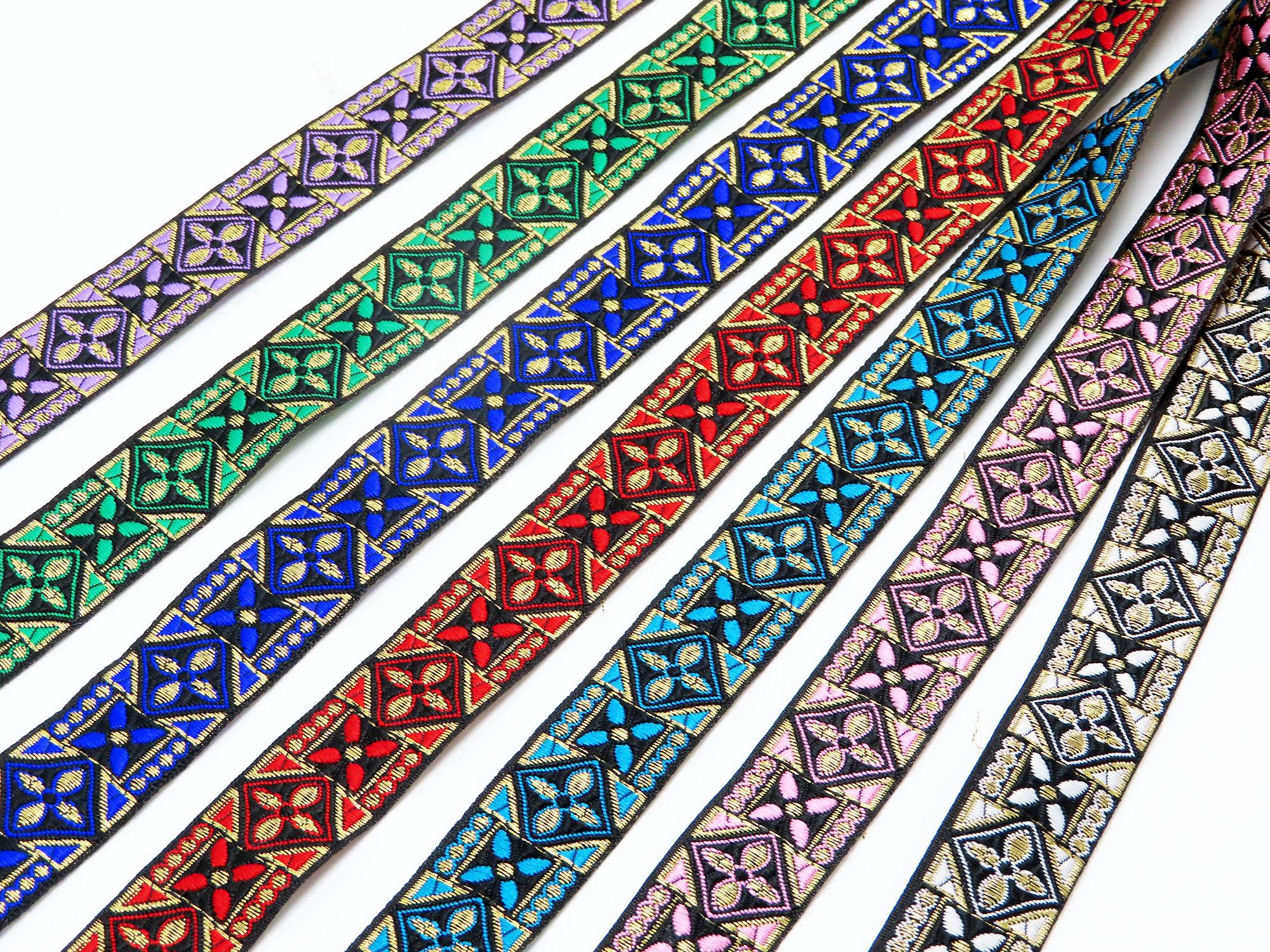 "Jacquard Ribbon 1"" 25mm Courtier priced Per Yard"