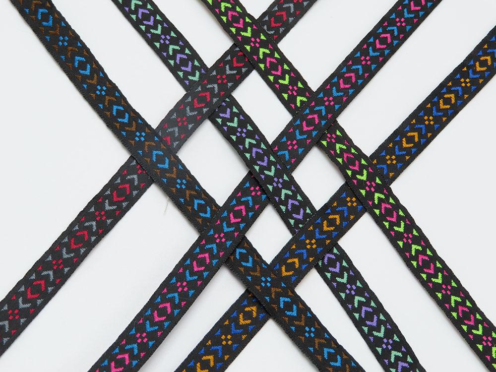 "Jacquard Ribbon 3/8"" Mini Aztec Diamond Per 9 Meter Roll"