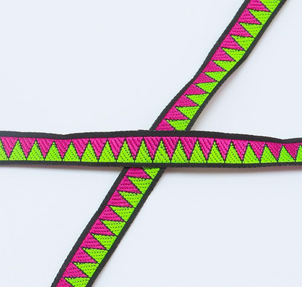 """Jacquard Ribbon 3/8"""" Mini ZIG ZAG Per 9 Meter Roll"""