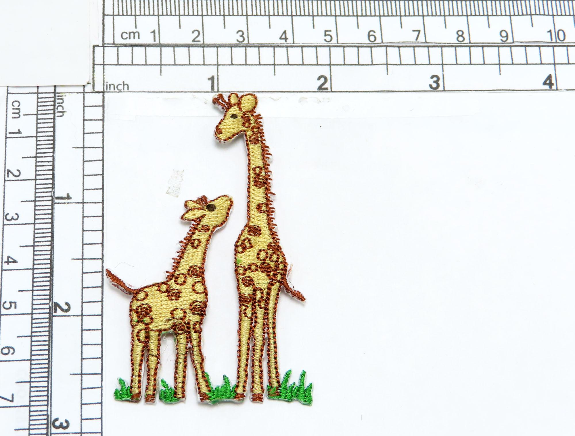 Giraffe Mom and Baby Applique