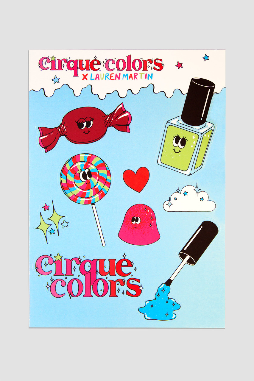 Cirque Colors x Lauren Martin Sticker Sheet | New Item