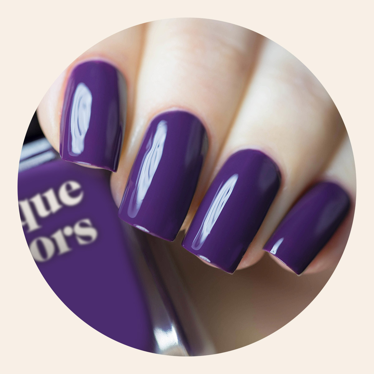 Dark Violet Purple Creme Nail Polish - Cirque Colors Velvet Underground
