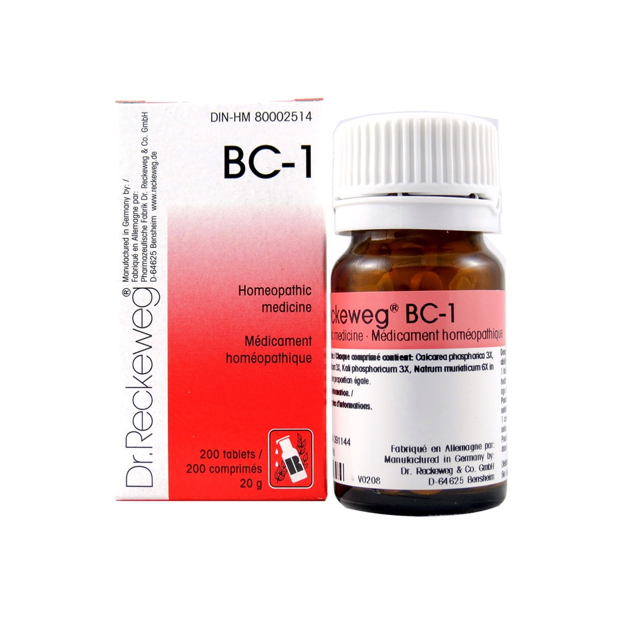 Dr Reckeweg BC1 - 200 Tablets