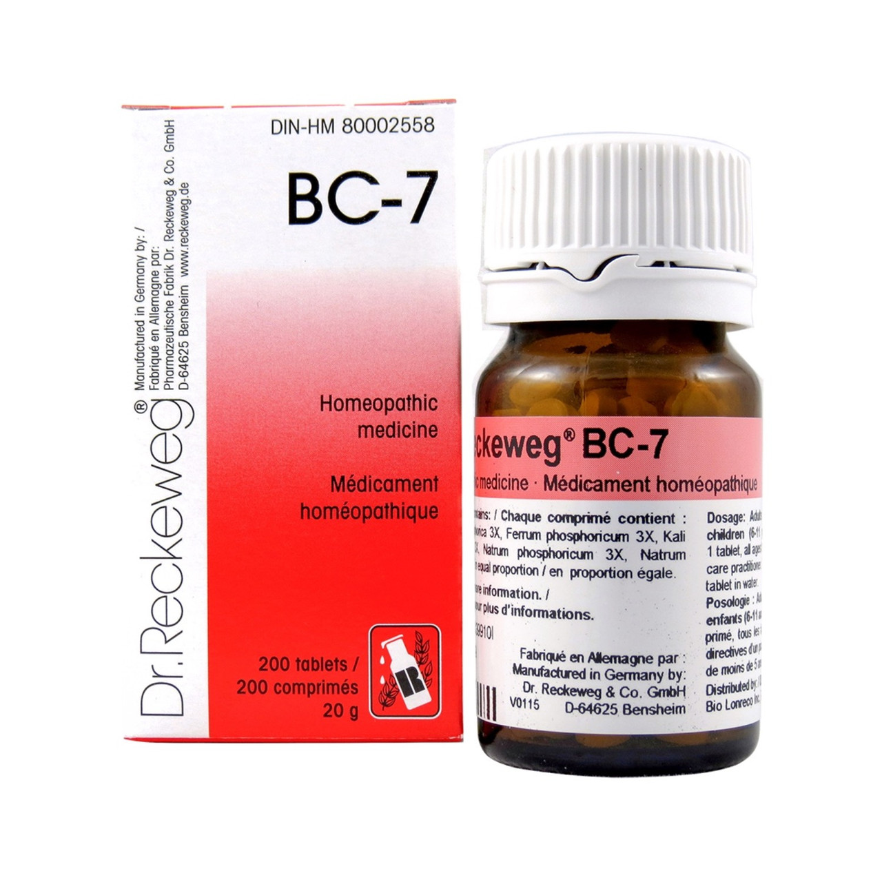 Dr Reckeweg BC7 - 200 Tablets