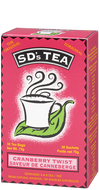 SD's Tea Cranberry Twist 30 Teabags by Platinum Naturals