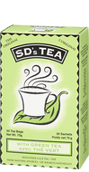 SD's With Tea Green Tea 30 Tea Bags By Platinum Naturals
