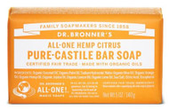 Dr Bronner's Citrus Orange Pure Castile Bar Soap 140 Grams