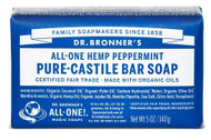 Dr Bronner's Peppermint Pure Castile Bar Soap 140 Grams