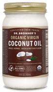 Dr Bronner's Whole Kernal Organic Virgin Coconut Oil 14 Oz (414 ml)