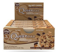 Quest Nutrition Oatmeal Chocolate Chip Protien Bar Box of 12 x 60g
