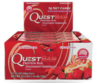 Quest Nutrition Strawberry Cheesecake Protien Bar Box of 12 x 60g