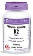 Preferred Nutrition Vitamin K2 100 mcg 60 Veg Capsules