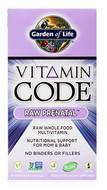 Garden of Life Vitamin Code Raw Prenatal 90 Capsules