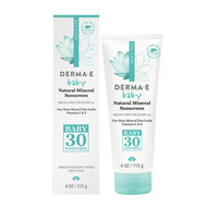 Derma e Natural Mineral Sunscreen SPF 30 Baby 113 g