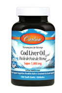 Carlson Cod Liver Oil Gems Super 1000 mg 100 Softgels
