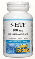 Natural Factors 5-HTP 100 mg 120 Enteric Coated Caplets