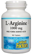 Natural Factors L Arginine 1000 mg 90 Tablets