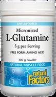 Natural Factors Micronized L Glutamine 300 g Powder