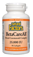 Natural Factors BetaCareAll 25000 IU 180 Softgels