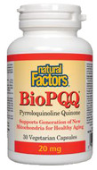 Natural Factors BioPQQ 20 mg 30 Veg Capsules