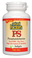 Natural Factors PS Phosphatidylerine 100 mg 120 Softgels