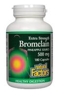 Natural Factors Bromelain Extra Strength 500 mg 180 Capsules