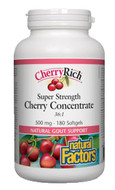 Natural Factors CherryRich 500 mg 180 Softgels
