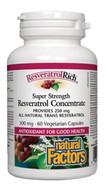 Natural Factors ResveratrolRich® Super Strength Resveratrol Concentrate 500 mg 60 Veg Capsules