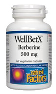 Natural Factors WellBetX Berberine 500 mg 60 Veg Capsules