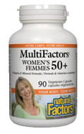 Natural Factors Women's 50+ MultiFactors 90 Veg Capsules