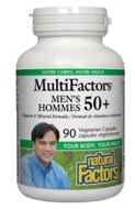 Natural Factors Men's 50+ MultiFactors 90 Veg Capsules