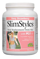 Natural Factors SlimStyles Meal Replacement Drink Mix Very Strawberry 800 g