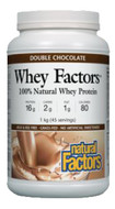 Natural Factors Whey Factors 100% Natural Whey Protein Double Chocolate 1 kg